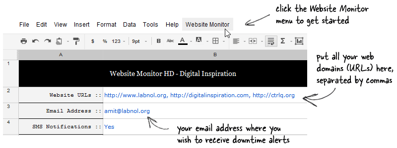 Google Docs monitoring tools