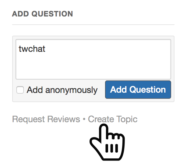 Create a topic Quora