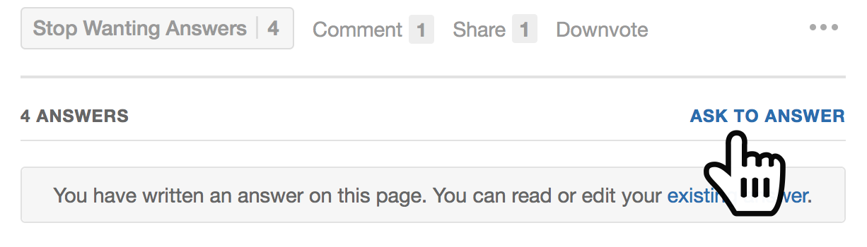 Ask people to answer on Quora