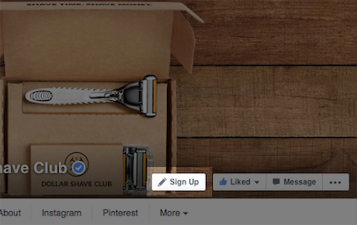 Facebook page Call To Action Button