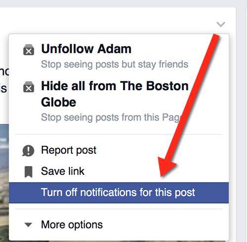 stop notifications