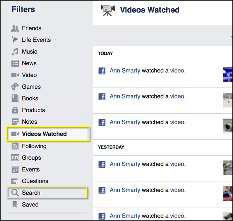 "Facebook ""Activity Log"" more"