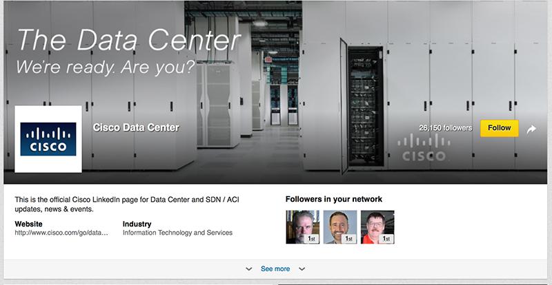 Adobe Showcase Page example: Cisco Data Centers