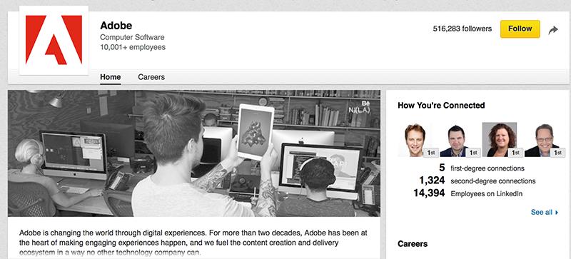 Adobe Company Page