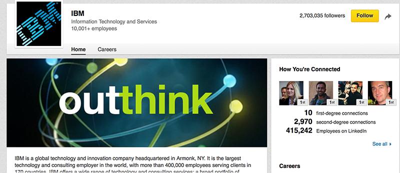 IBM Company Page