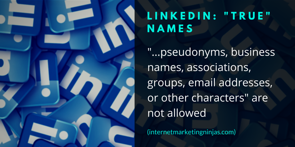 "LinkedIn: ""True"" Names"