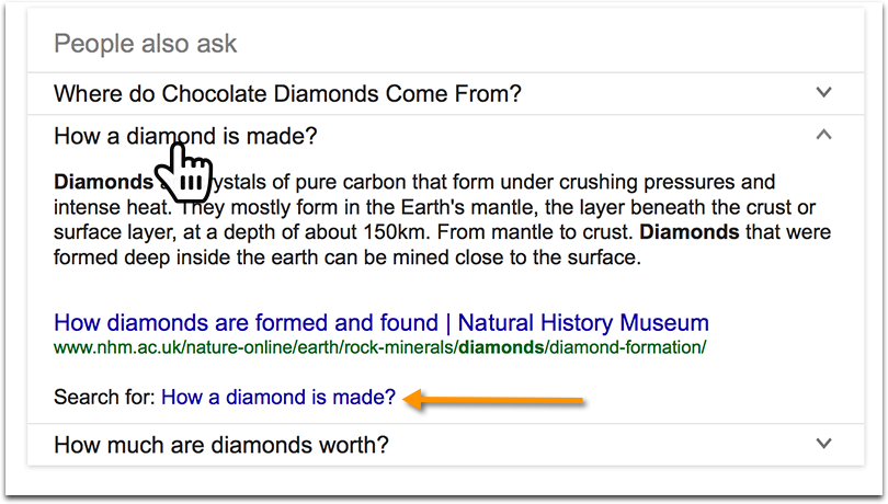 "Google's ""People Also Ask"" (Related Questions"