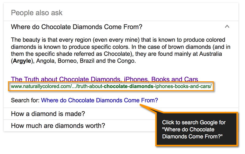 """Google's """"People Also Ask"""" (Related Questions"""
