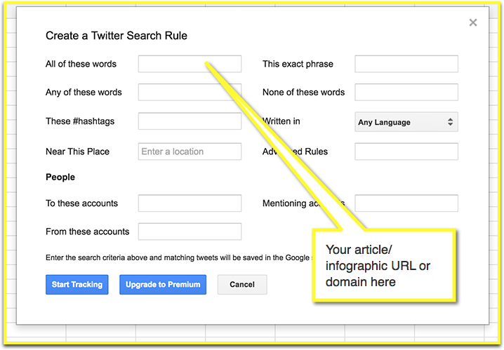 Twitter Archiver search