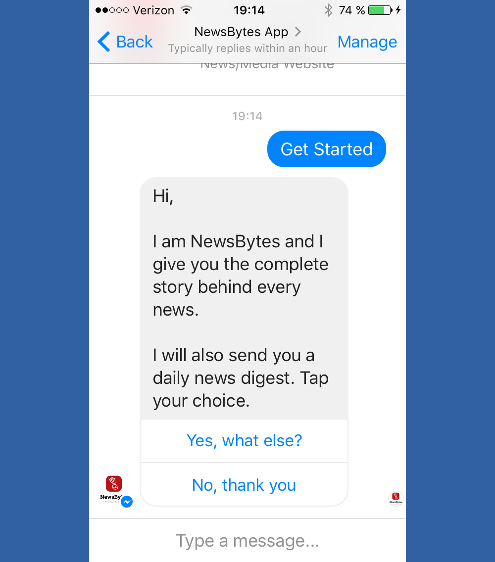 NewsBytes chatbot
