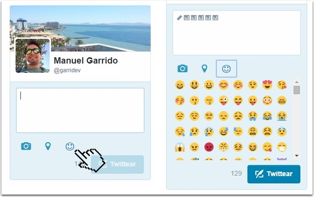 EmojiT - Emoji Panel for Twitter