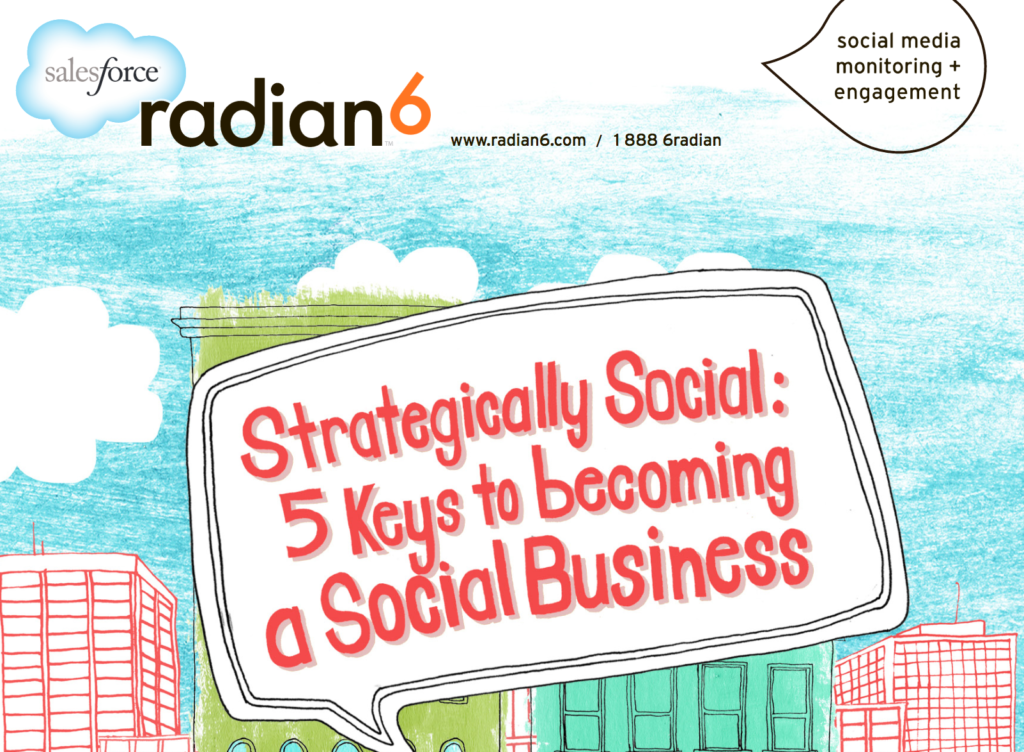 www.radian6.com 1 888 6RADIAN (1 888 672-3426) Copyright © 2011 - Radian6 STRATEGICALLY SOCIAL: FIVE KEYS TO BECOMING A SOCIAL BUSINESS [ 1 ] Strategically Social: Five Keys to Becoming a Social Business