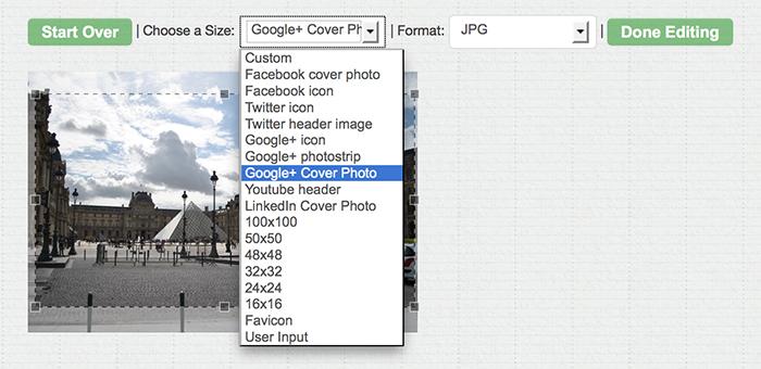 Social Media Image Re-sizer
