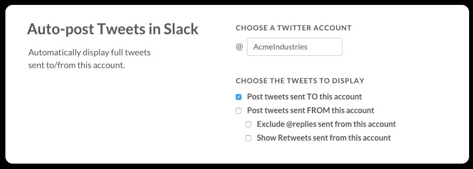 Twitter inti Slack