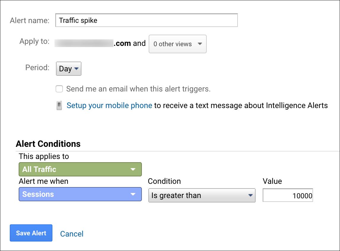 Custom alerts